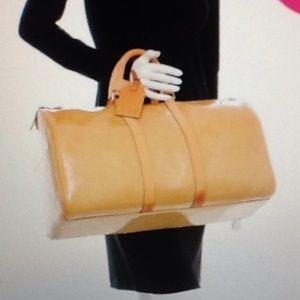 Louis Vuitton Vernis Mercer beige duffle bag